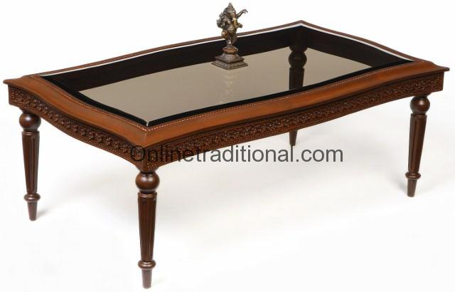 Center Table, Solid Teak Wood Center Table for Home/Office ...
