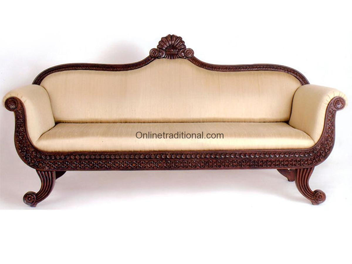 Teak Wood Sofa Sets Traditional Carving Sofa Sets